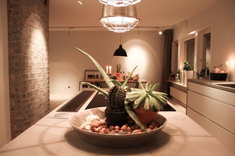 Kök och matrum sitter ihop